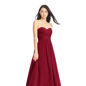 Brand New Strapless Mulberry Dress